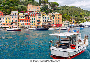 Portofino. The resort town in Liguria.