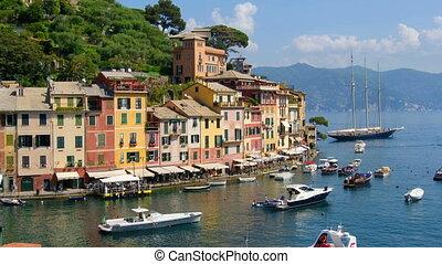 Portofino vibrant colors homes and buildings .