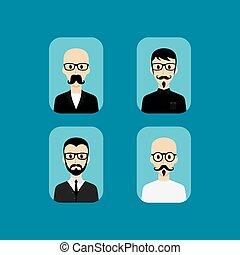 porträt, avatar, karikatur