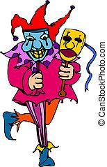 porträt, clown