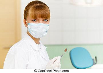 porträt, dental, arbeiter