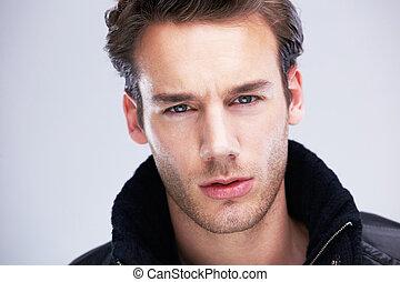porträt, hübsch, junger mann