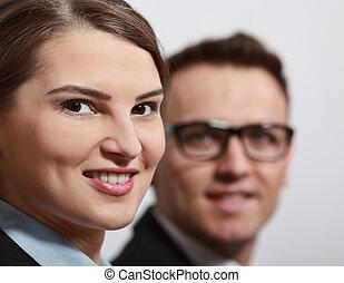 Porträt, junger, Geschäftsfrau