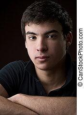porträt, junger mann