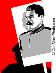 porträt, mann, stalin