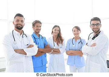 porträt, mitglieder, führen, medizin, zentrieren