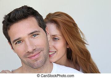 porträt, paar, liebe