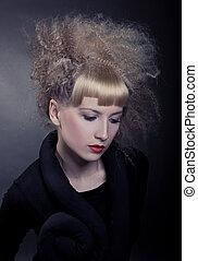 porträt, schoenheit, blond