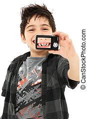 porträt, selbst, fehlende zähne