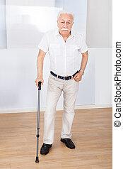 porträt, von, älterer mann, mit, opastock