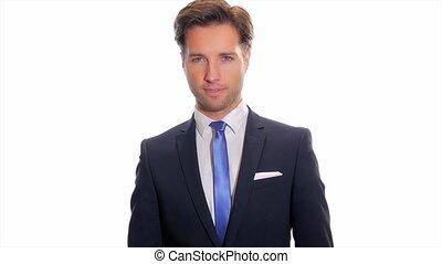 porträt, von, a, erfolgreich, businessma