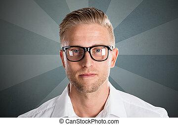porträt, von, a, junger mann