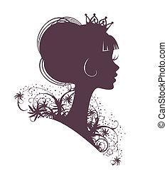 porträt, von, a, princess3