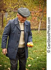 porträt, von, alter mann