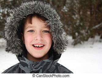 Porträt,  Winter, Junge