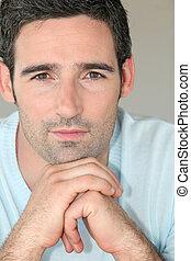 portræt, 30-year-old, mand, pæn