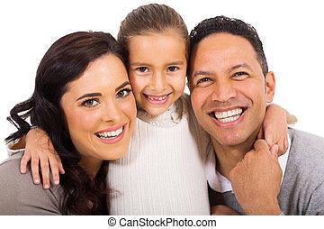 portræt, familie
