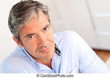 portræt, mand, 40-year-old, pæn