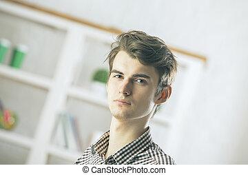 portræt, pæn, forretningsmand