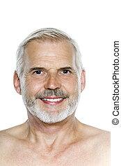 portræt, senior mand