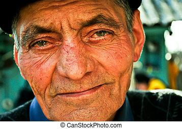 portré, öregember