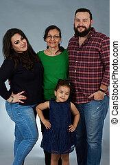 portré, család, nemzedék
