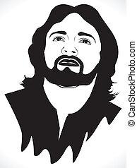 portré, elvont, művészi, jézus