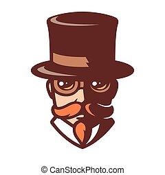 portré, ember, steampunk