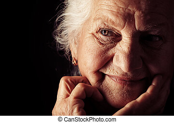 portré, idősebb ember
