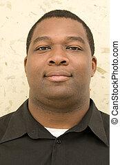 portré, közül, black hím