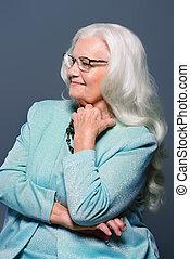 portré, modern, nagyanyó