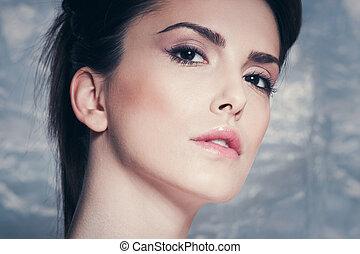 portré, nő, szépség