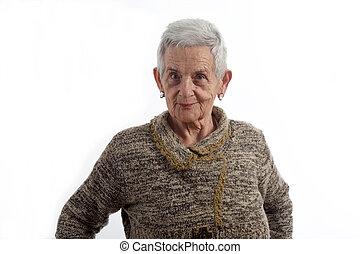 portré, senior woman