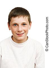portré, young fiú