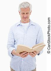 portrét, o, jeden, osoba výklad, jeden, kniha