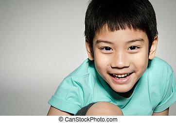 portrade, の, アジア人, かわいい, 男の子