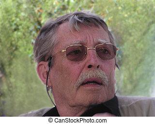portrait, 4, homme âgé