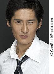 Portrait - A portrait of an asian businessman