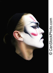 portrait, acteur, kabuki
