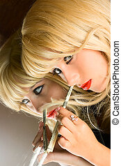Portrait addict girl