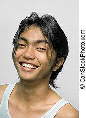 portrait, adolescent, asiatique