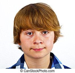 portrait, adolescent, mignon