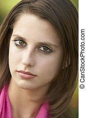 portrait, adolescente