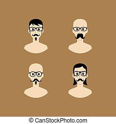 portrait, avatar, dessin animé