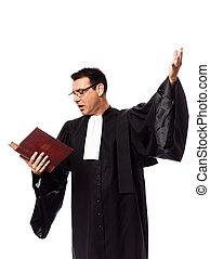 portrait, avocat, homme