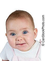 portrait, bébé, closeup