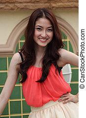 beautiful Asian Girl smilling