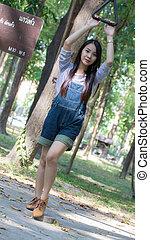 Portrait Beautiful asian woman node