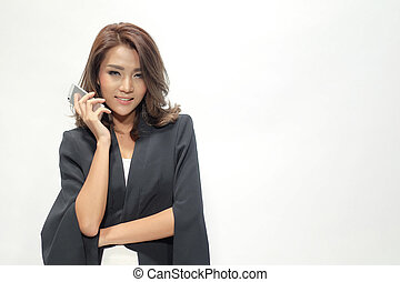 Portrait beautiful asian woman standing
