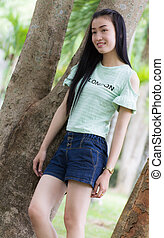 Portrait Beautiful asian woman